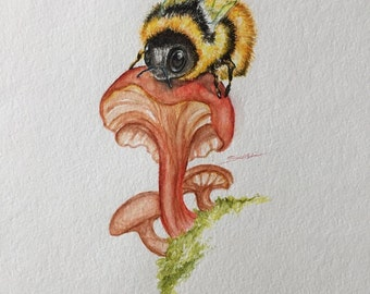 Custom Watercolor Painting: Your Choice of Insect