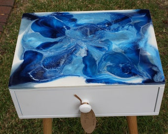 Resin topped Side Table - Made to order