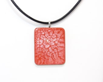 Pendant red mixed media