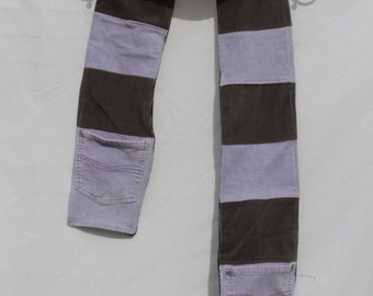 Upcycled Corduroy Scarf with Pockets Free Shipping