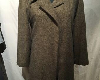 Mohair Herringbone Coat