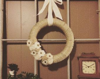 Burlap/twine wreath