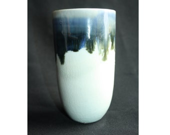 1019 Blue Celadon & Chun Thrown Vase