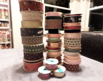 Rolls of Ribbon Assorted Colors and Sizes Lot of 25