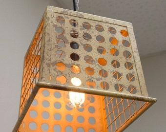 Rustic Basket Ceiling Lamp (garage light, patio light)