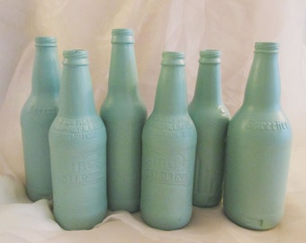 Set of 6 Mint Bottles