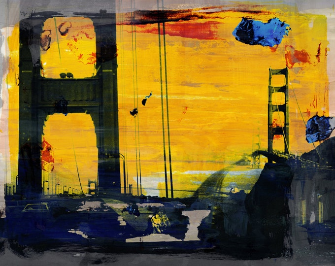 CALIFORNIA IX by Sven Pfrommer - 100x80cm Artwork is ready to hang.