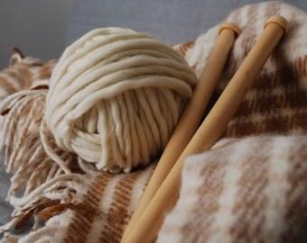 Chunky yarn Ecru 1kg