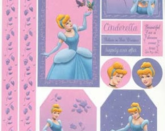 Disney Princesses and Barbie Large Sheet Cardstock Stickers
