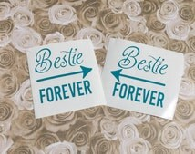 Set Of Two Best Friend Forever Decals , Sister Gifts , Stickers For Twin Girls , Matching  Arrow Sticker , Mother And Daughter Gift ideas