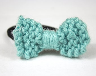 Knitted Bow Hair Tie
