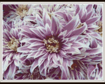 Exotic Flower Cross Stitch - PDF Download