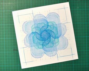 COMPO square three - blue