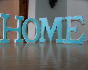 Funky Shabby Chic wiiden 'HOME' letters
