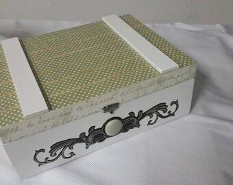 Slatted Keepsakes Box