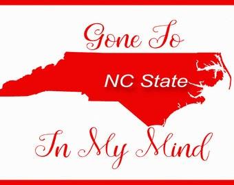 North Carolina State, art, print, NC State, dorm room, University, graduation, gift, Raleigh, decor, wall art, Wolfpack, art, birthday