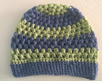 Green and Blue Hat