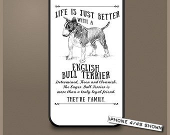 English Bull Terrier dog phone case cover iPhone Samsung ~ Can be Personalised