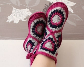 Pink Boots Slippers for Home Women Girls