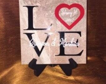 Personalized LOVE Decor Tile