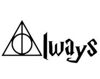 Harry Potter Always Vinyl Decal - Hogwarts - Deathly Hallows Decal - Laptop Decal - Yeti Decal - Decal - Sticker