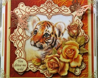 beautiful tiger cub card