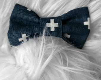 Navy Blue and White bow tie/navy bow tie/bow tie