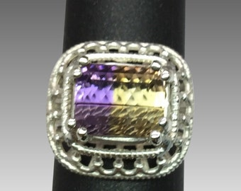 14k Ametrine Ring, FREE SIZING.