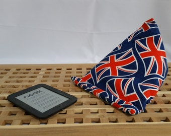 ipad tablet cushion in union jack fabric