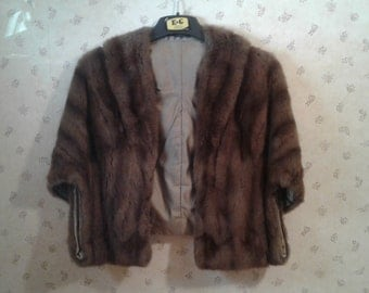 Vintage Mink Cape/Stole with Collar from the 50's or 60's
