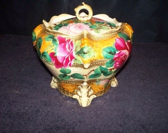 Antique Nippon Biscuit Jar