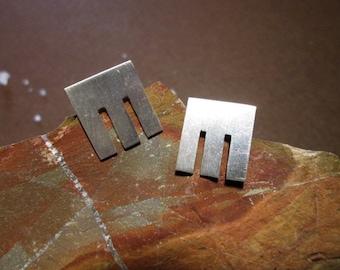 square earrings, geometric earrings, simple earrings, earrings, Silver earrings, cheap earrings earrings minimal