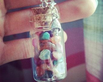 Fairy Gem Jar Necklace