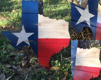 Rustic Texas wood art