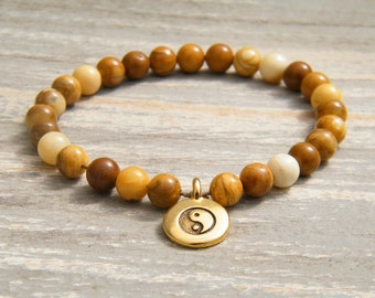Yellow Jasper Pocket Mala - 27 Bead Travel Mala - Gemstone Mala - Mini Jasper Mala