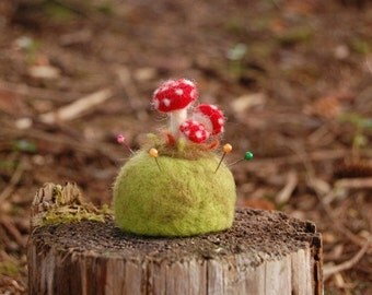 Magical Toadstool Pincushion