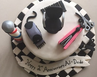 Barber/Hairdresser Cake Toppers