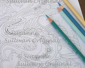 5 pdf printable color pages pdf coloring pages adult coloring pages instant download adult relaxation