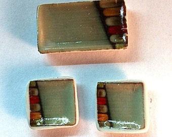 Set of 3 Miniature Sushi Plates (CER078)
