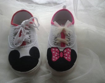 Mickey & Minnie mouse inspired shoes