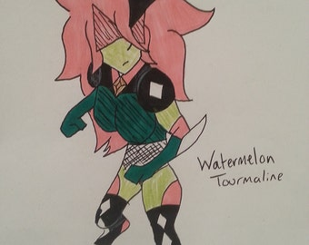 Watermelon Tourmaline Gemsona StevenUniverse