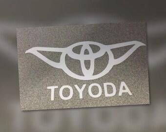 Toyoda Car Decal,  Star Wars car decal,  car decal, bumper sticker, star wars bumper sticker, toyoda bumper sticker, toyoda car decal