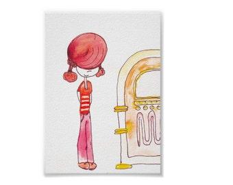 No Juke - Handmade Watercolor Print