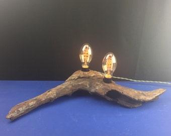 Driftwood edison bulb lamp