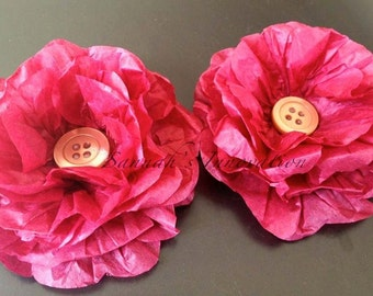 3 x Tissue Paper flowers