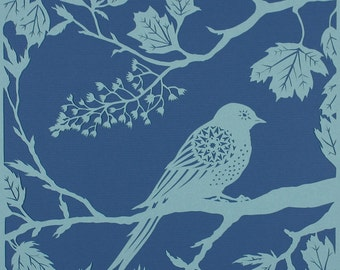 Swallow in Sycamore  - bird papercut - print from an original handmade art work.