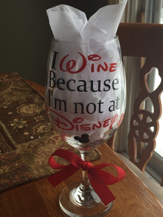 Items Similar To Disney 20oz Wine Glass With Vinyl Decals
