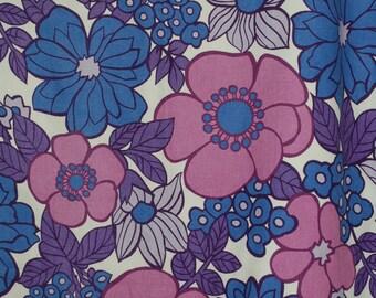 Beautiful Vintage Retro Flower Power, Floral St Michael Curtain Fabric Craft M&S