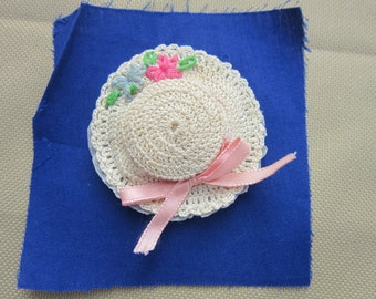 Vintage Crochet Hat Sachet circa 1935