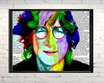 Poster John Lennon, John Lennon image, John Lennon, Download file, Rock music, John Lennon portrait, Beatles, art for lounge room